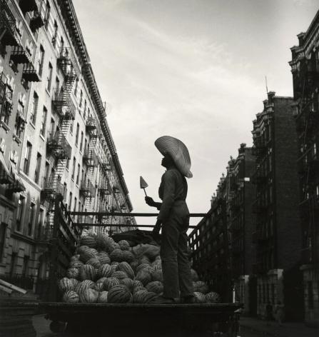 Aaron Siskind - Watermelon Man, Harlem, 1940 - Howard Greenberg Gallery