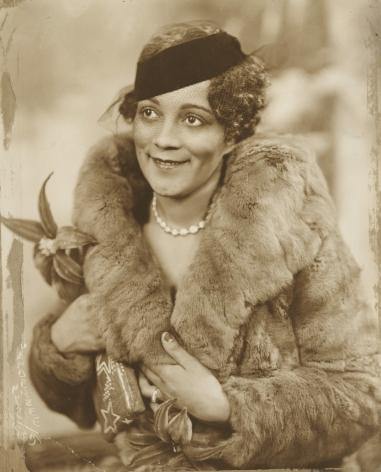 James Van Der Zee - Lady with Fur Jacket, 1935 - Howard Greenberg Gallery