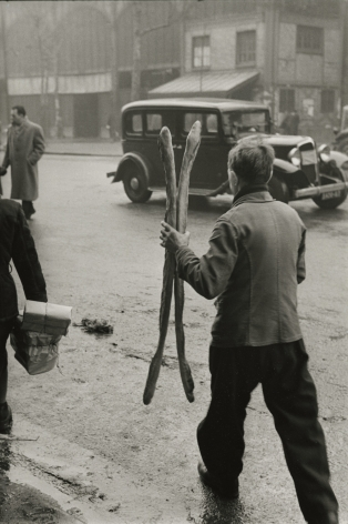 Marc Riboud - Two Baguettes, Paris, 1953 - Howard Greenberg Gallery