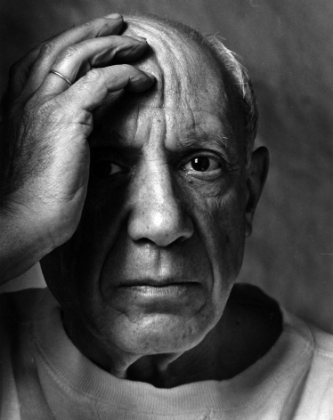 Arnold Newman - Pablo Picasso, Vallauris, France, 1954 - Howard Greenberg Gallery