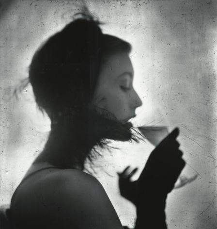 Irving Penn, Girl Drinking (Mary Jane Russell), 1949, Gelatin silver print, Howard Greenberg Gallery, 2019
