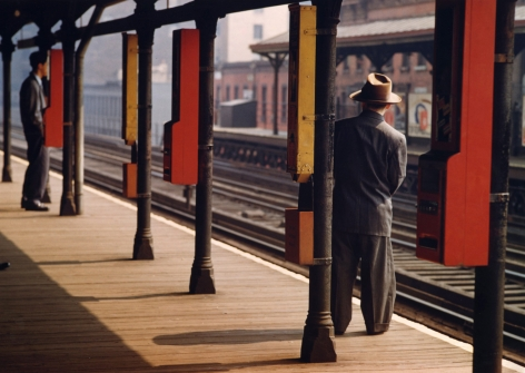 Esther Bubley - Man on Platform, c.1951 - Howard Greenberg Gallery
