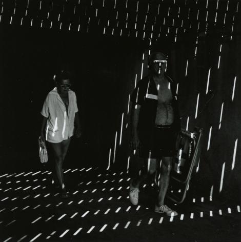 """Ray K. Metzker - 66 GZ-1, Atlantic City, from """"Under the Boardwalk,"""" 1966 - Howard Greenberg Gallery - 2018"""