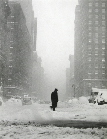 Ted Croner - Little Man in Snow, 1947 - Howard Greenberg Gallery