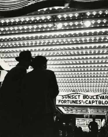 Bedrich Grunzweig - Times Square Movie Theatre Marquee, New York City, c.1950 - Howard Greenberg Gallery
