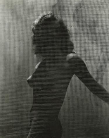 Erwin Blumenfeld, Torso Behind Screen, Paris, 1938-1939 Gelatin silver print; printed c.1938-1939 9 5/8 x 7 3/4 inches