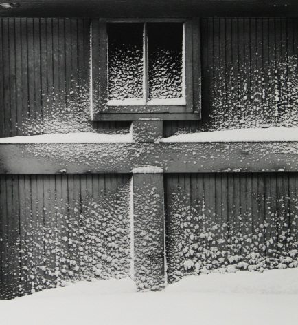 Minor White - Snow on Garage Door, Rochester, New York, 1960 - Howard Greenberg Gallery