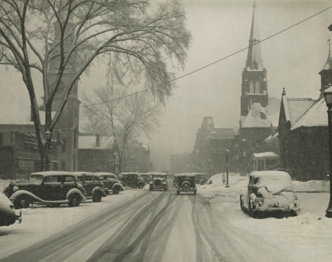Marion Post-Wolcott - Main Street, Brattleboro, Vermont, 1938 - Howard Greenberg Gallery