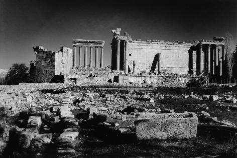 Don McCullin, Broken sarcophagi before the temples of Bacchus and Jupiter, Baalbek, Lebanon, 2008, Howard Greenberg Gallery, 2019