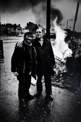 Don McCullin, Drunken Men, Aldgate, London, mid 1970s, Howard Greenberg Gallery, 2019