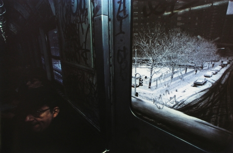 Subway, New York, 1980 Dye transfer print; printed later 20 x 24 inches, howard greenberg gallery, 2020