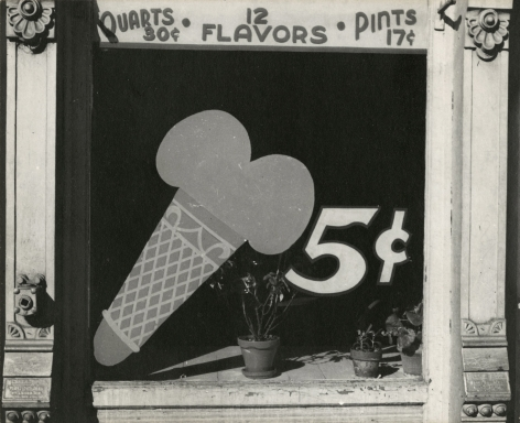 Peter Sekaer - Ice Cream Cone Sign, Bowling Green, Virginia, c.1935 - Howard Greenberg Gallery
