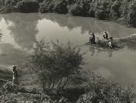 Marion Post-Wolcott - Negroes Fishing in Creek near Cotton Plantation Outside Belzone, Miss. Delta, 1939 - Howard Greenberg Gallery
