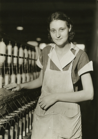 lewis hine, Picket Yarn Mill, High Point, North Carolina, 1936-37  Gelatin silver print; printed c.1936-37  6 5/8 x 4 5/8 inches