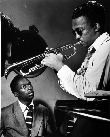 William Gottlieb - Miles Davis, Howard McGhee, c.1947 - Howard Greenberg Gallery