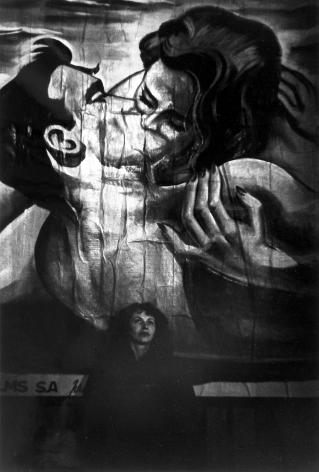 Ed Van der Elsken - Ata in Front of Bulletin Board, 1950s - Howard Greenberg Gallery