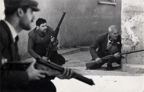 Don McCullin, Gunmen, Limassol, Cyprus, 1964, Howard Greenberg Gallery, 2019