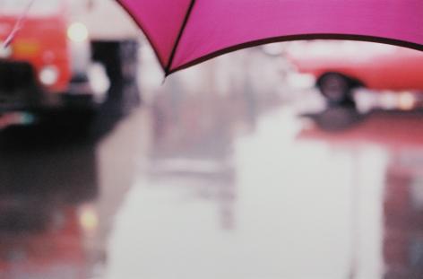 Saul Leiter, Purple Umbrella, 1950s, Howard Greenberg Gallery, 2019