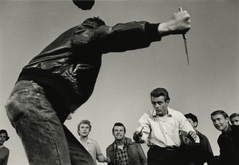 "Dennis Stock - James Dean in the film ""Rebel Without a Cause"", 1955 - Howard Greenberg Gallery"