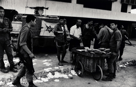 Don McCullin, Soldiers Buying Bread, Beirut, 1982, Howard Greenberg Gallery, 2019