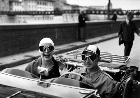 Ruth Orkin - Couple in MG, 1951 - Howard Greenberg Gallery