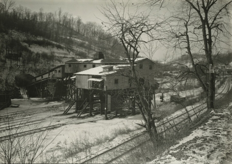 Lewis Hine - Jere, mine tripple - Mine Bankrupt and closed since December 1935. The camp of this mine is considered a stranded community. Scott's Run, West Virginia, December 1936