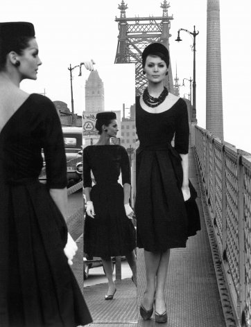 William Klein - Mirror and Queensboro Bridge, New York, 1963 - Howard Greenberg Gallery