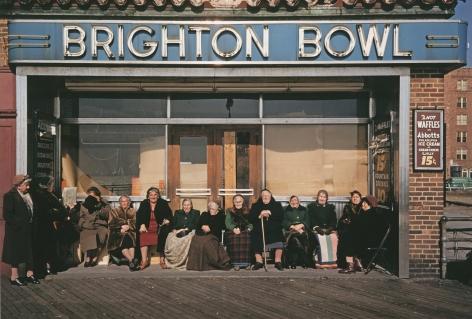 Marvin Newman - Brighton Bowl, Winter Boardwalk, Coney Island, N.Y., 1953 - Howard Greenberg Gallery