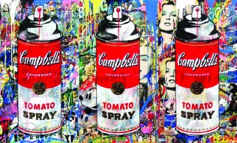 Tomato Spray Triptych, 2016