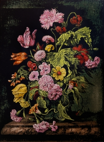 Still Life with Flowers III - Homage to Rachel Ruysch