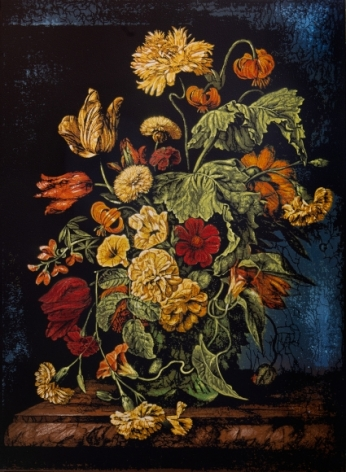 Still Life with Flowers V - Homage to Rachel Ruysch