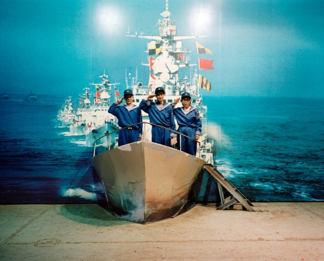 Reiner Riedler, Fake Holidays, Saluting at the Minsk World Military Theme Park, Shenzhen, China, 2008, Sous Les Etoiles Gallery