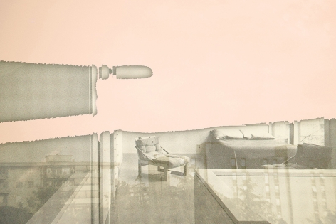 Susanne Wellm, Inner Landscapes, Sous Les Etoiles Gallery, room with a color, pink, 2004
