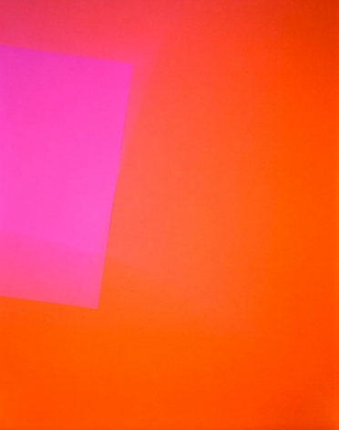 Richard Caldicott, Chance/Fall, 2010, Sous Les Etoiles Gallery, orange, pink, abstract