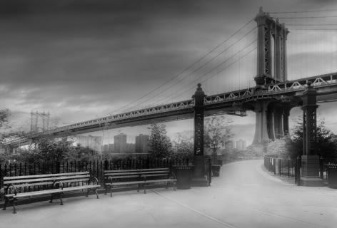 Jean-Michel Berts, Light of New York, Manhattan Bridge, 2007, Sous Les Etoiles Gallery