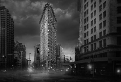Jean-Michel Berts, Light of New York, Flatiron Building, 2007, Sous Les Etoiles Gallery