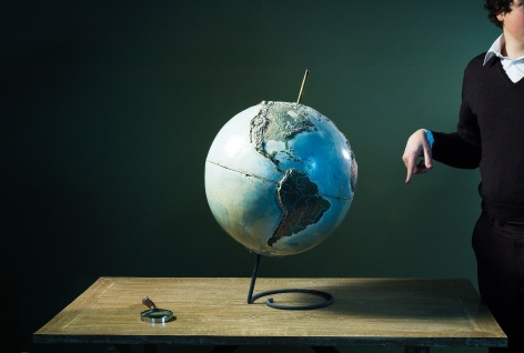 Sophie Delaporte, Post Modern Mysteries, map and  man, Sous Les Etoiles Gallery