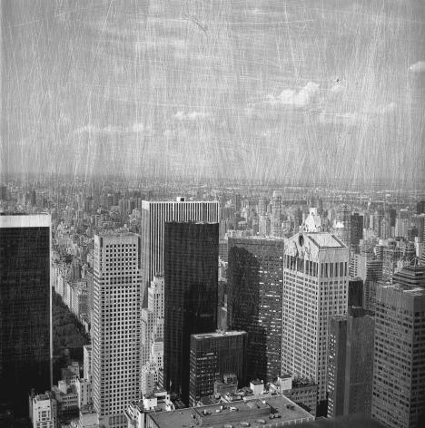 Bruno Bertrand-Frezoul, Scratching New York, Manhattan buildings, 2006, Sous Les Etoiles Gallery