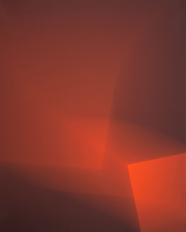 Richard Caldicott, Chance/Fall, 2010, Sous Les Etoiles Gallery, red, abstract