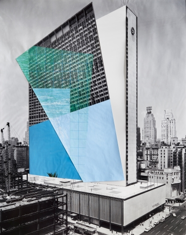 Julie Boserup, 53rd Street and 6th Avenue. New York Hilton Hotel, from the Wurts Bros. Collection at the Museum of the City of New York Sous Les Etoiles Gallery