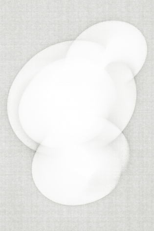 Luuk de Haan, big nothing 19, 2013, abstract photography, white, unique, Sous Les Etoiles Gallery, New York