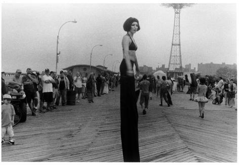 Sous Les Etoiles Gallery, Stilt Walker in Mermaid Parade, Harvey Stein, Coney Island