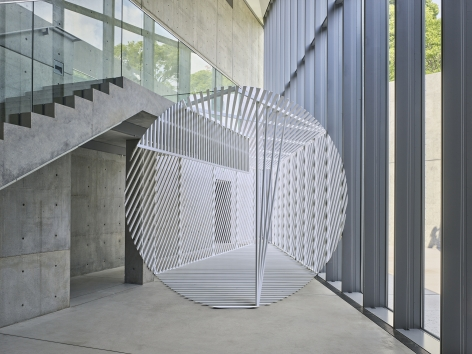 Georges Rousse, anamorphose, architecture, black, Tokyo, Japan, Sous Les Etoiles Gallery