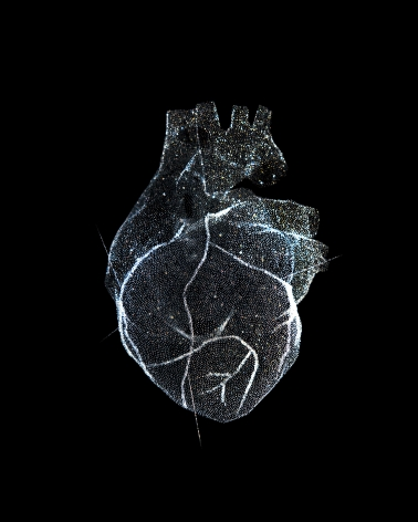 Reiner Riedler, Livesaving Machines, Glass Model of the Heart, 2012, Sous Les Etoiles Gallery