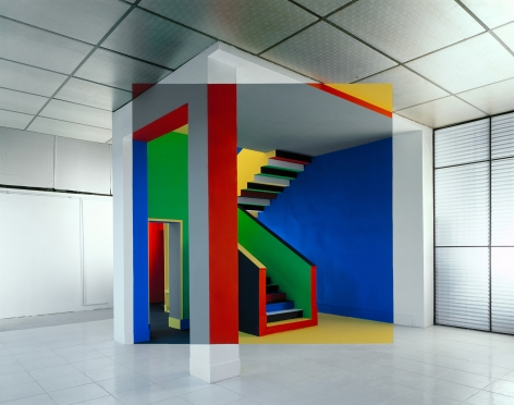 Georges Rousse, Alfort, 2002, Sous Les Etoiles Gallery