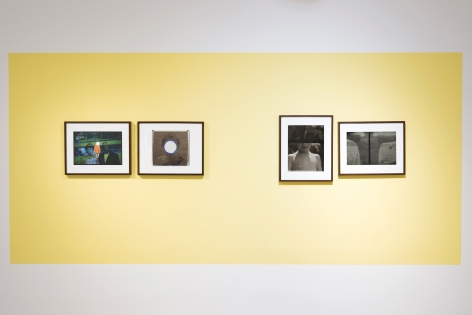 """Robin Cracknell's """"Childhood"""" exhibition installation at Sous Les Etoiles Gallery, 2016"""