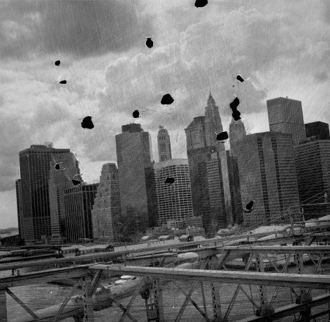 Bruno Bertrand-Frezoul, Scratching New York, Manhattan skyline, 2006, Sous Les Etoiles Gallery