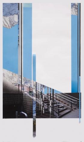 Julie Boserup,  Danish Building, collage, Sous Les Etoiles Gallery
