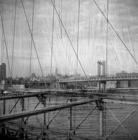 Bruno Bertrand-Frezoul, Scratching New York, Untitled, bridge, 2006, Sous Les Etoiles Gallery