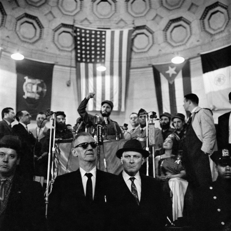 Alberto Korda, Fidel Castro giving a speech at Central Park, New York, Friday, April 24, 1959, Sous Les Etoiles Gallery